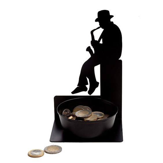Spare Some Change - Saxophonist Coin Holder