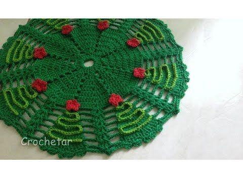 Centro De Mesa Arvores De Natal Croche Professora Maria Rita