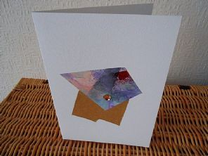 Odd Crystal - Mixed Media Art Greeting Card - Mixed Materials - Original Fine…