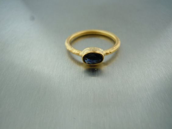 Blue Sapphire Ring on Etsy, $190.00