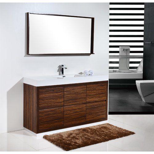Tenafly 59 Single Bathroom Vanity Set Single Sink Bathroom