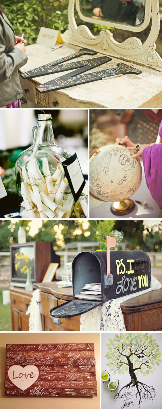 Libros de firmas originales en las bodas #weddingideas #weddingdecor #wedding