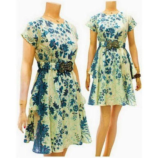 Batik Kerja Sarimbit: Dress Batik Modern Terbaru DBD03