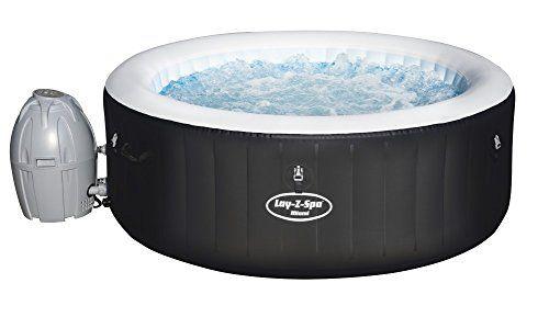 Lay Z Spa Miami Airjet 180x66 Cm Aufblasbarer Whirlpool Fur Bis Zu 4 Personen Rund Wellness Fur Best Inflatable Hot Tub Inflatable Hot Tubs Hot Tub Reviews
