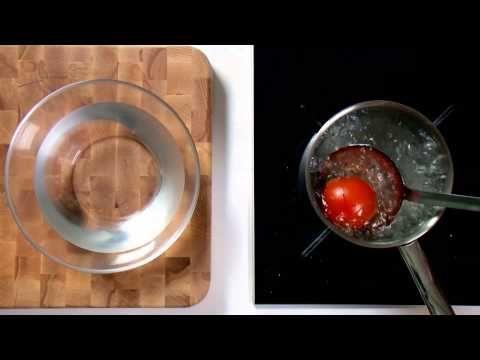 Kookvideo: tomaat ontvellen