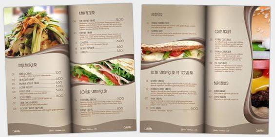 The Olive Tree Restaurant Menu Design  Ads  Identity