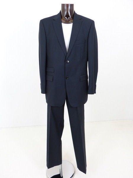 hugo boss anzug blau gr 54 100 schurwolle super 120. Black Bedroom Furniture Sets. Home Design Ideas
