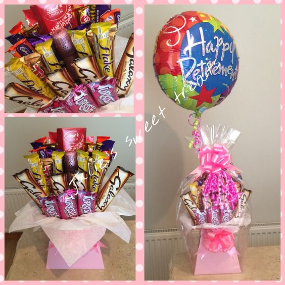 Bottle bouquet with balloon x