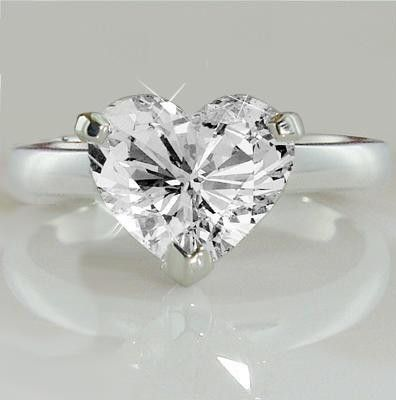 Wedding ring (love silver and heart shape)