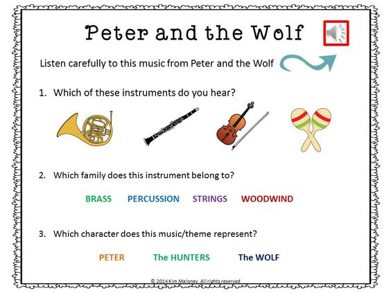 peter and the wolf listening sheets wolves the o 39 jays and shorts. Black Bedroom Furniture Sets. Home Design Ideas