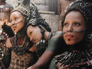 """""""I definitely liked big pictures portraying the Maya people which showed very nicely beautiful facial scarifications, stretched lobe piercings and big labret piercings both on men and women."""""""