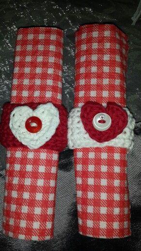 Crochet Valentine Serviete rings