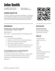 Resume set up