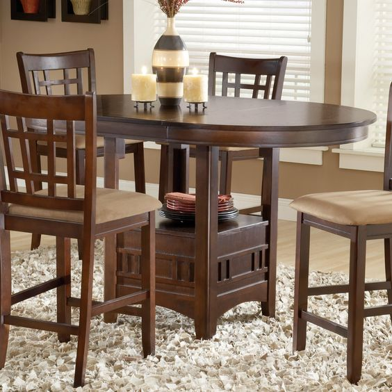 Bernards 5710 Randolph Round Pub Table   Home Furniture Showroom