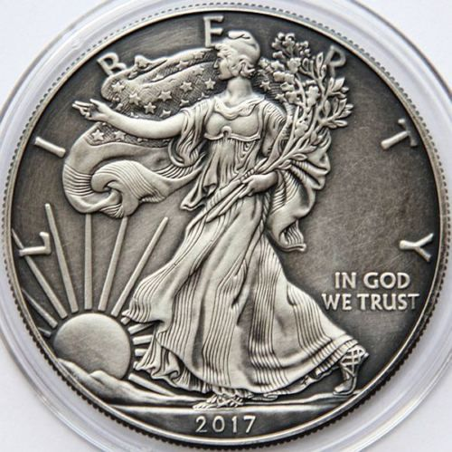 Ebay 64 2017 American Silver Eagle 1 Oz Antique Finish Only Few Available Bullion Coins Silver Bullion Coins For Sale