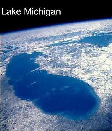 Michigan lake michigan and lakes on pinterest for Michigan fish size limits