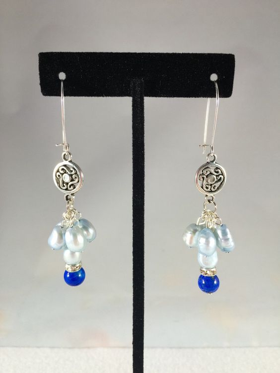 A personal favorite from my Etsy shop https://www.etsy.com/listing/264300636/freshwater-pearl-lapis-lazuli-and