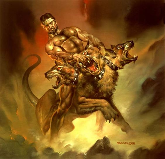 Boris Vallejo - Cerberus. Tags. Heracles, hercules ...