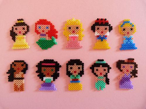 Disney Princesses Hama Art Perler Beads Pinterest