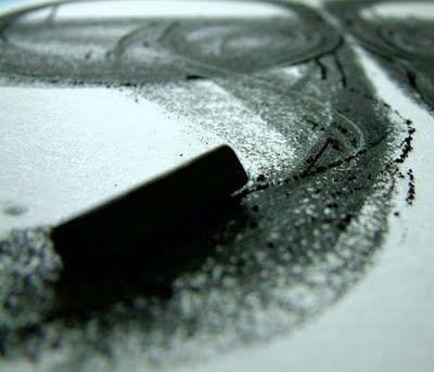 compressed charcoal / black chalk