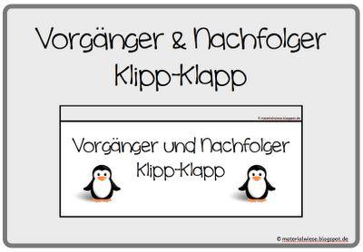 """materialwiese: Vorgänger und Nachfolger """"Klipp-Klapp"""""""