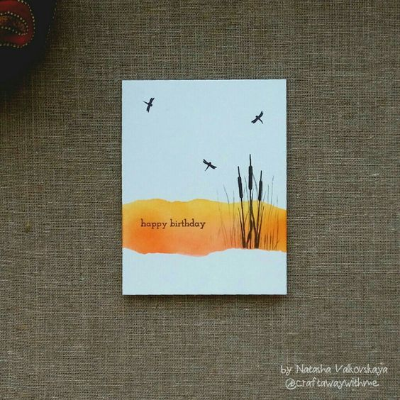 Clean and simple masculine card for AAA Card Challenge Game #76: