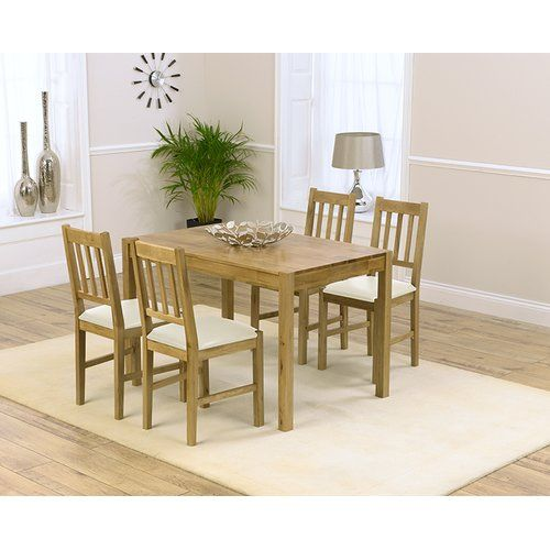 Zipcode Design Muoi Dining Set With 4 Chairs Oak Dining Chairs