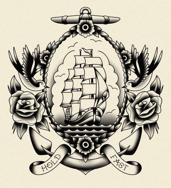 Sailor tattoos new york and style on pinterest for Traditional navy tattoos