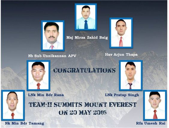 #COAS congratulated 2nd #TeamMtEverest led by Maj Baig for the exceptional feat of summiting peak at 0600h http://today.pic.twitter.com/RYdLz50Hdh #IndianArmy #Army