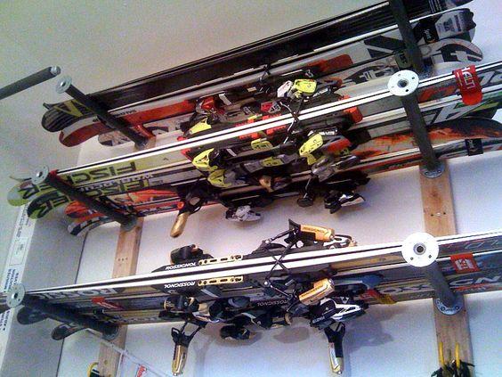 ski storage ideas garage pinterest sommer schwimmnudeln und schwimmb der. Black Bedroom Furniture Sets. Home Design Ideas