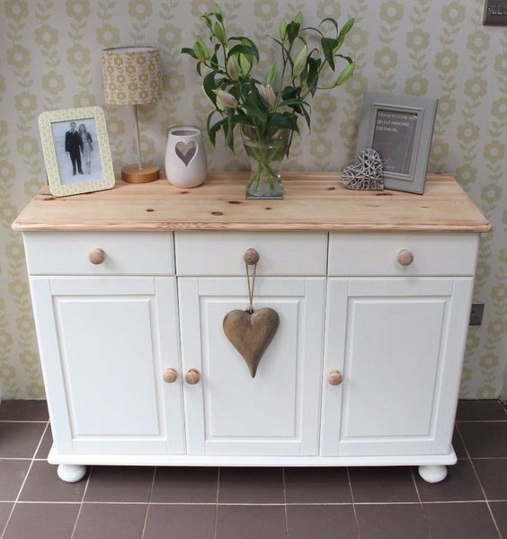 Shabby chic annie sloan painted pine sideboard shabby How to renovate old furniture