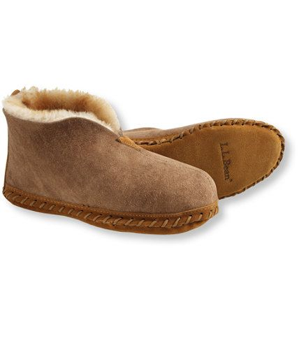 """L.L.bean Women's Wicked Good Slippers. $79.00 Here in Maine, """"wicked good"""" is as good as you can get. When you slip into these soft shearling slipper, you'll understand exactly how they earned their name."""