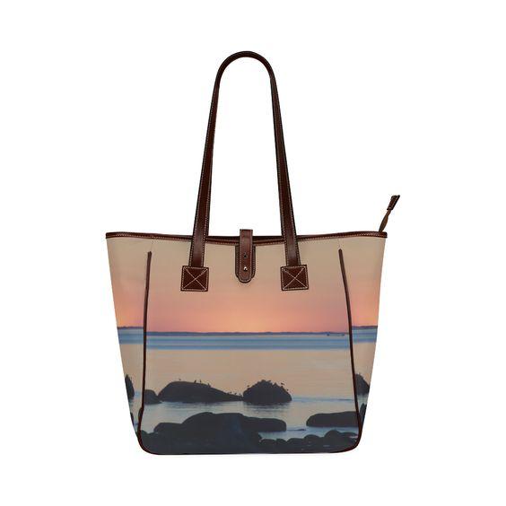 Dusk on the Sea Classic Tote Bag (Model 1644)
