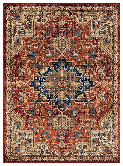 Luxe Weavers Howell Collection Red Oriental 5x7 Area Rug 2527