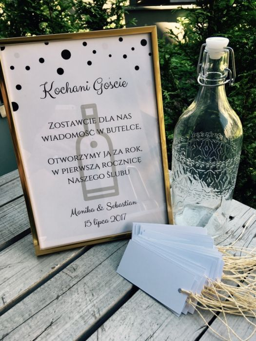 Ksiega Gosci Wesele Wiadomosc W Butelce Wedding Helpers 18 Birthday Party Decorations Space Wedding
