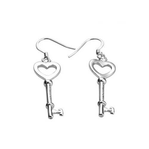 Designer Inspired 925 Sterling Silver Key Shaped Open Heart Dangle Earrings F56 Ebay Link Tiffany And Co Earrings Tiffany Jewelry Outlet Tiffany Earrings