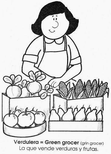 La Profesiones En Ingles Y En Espanol Dibujos Para Colorear