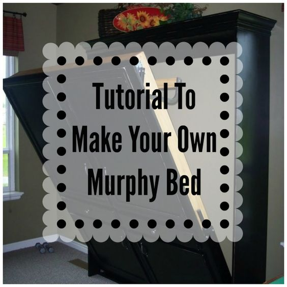 DIY Murphy Bed. Perfect for basement/guest room