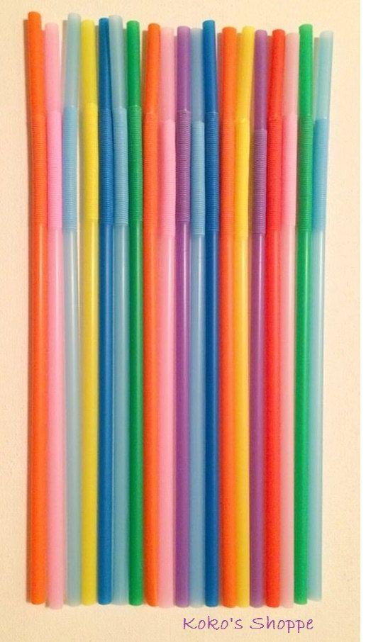 SUPER Stretchy Drink Straws by KokosShoppe on Etsy