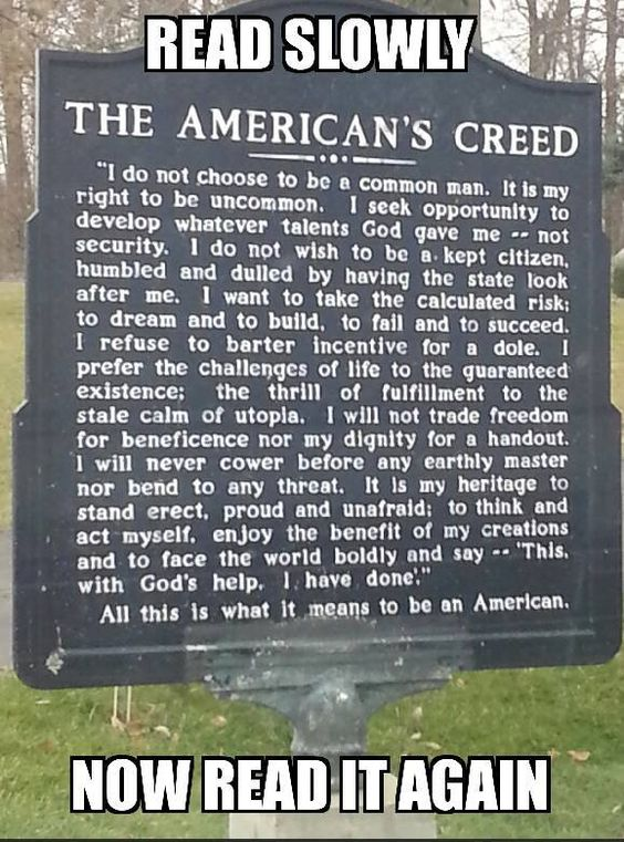 What does mean to be an American?