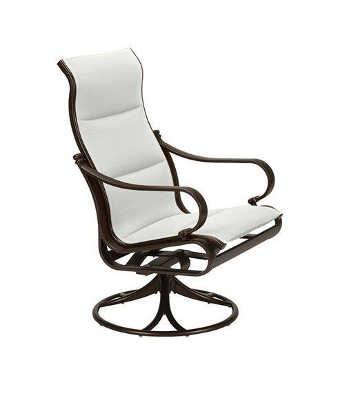 Padded Sling High Back Swivel Chairs Patio Rocking Chairs Outdoor Rocking Chairs Swivel Rocking Chair High back swivel rocker patio chairs