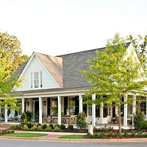 Porches wrap around porches and southern living on pinterest for Southern house plans with porches