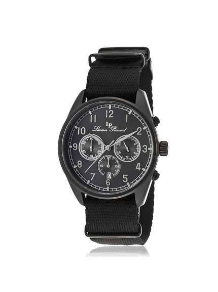 Lucien Piccard Men's LP-10588N-BB-01 Moderna Black Nylon Watch at MYHABIT