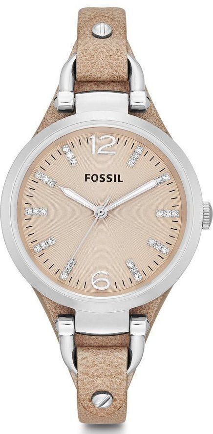 Fossil Watches, Women's Georgia Three Hand Leather Watch - Sand #ES3369