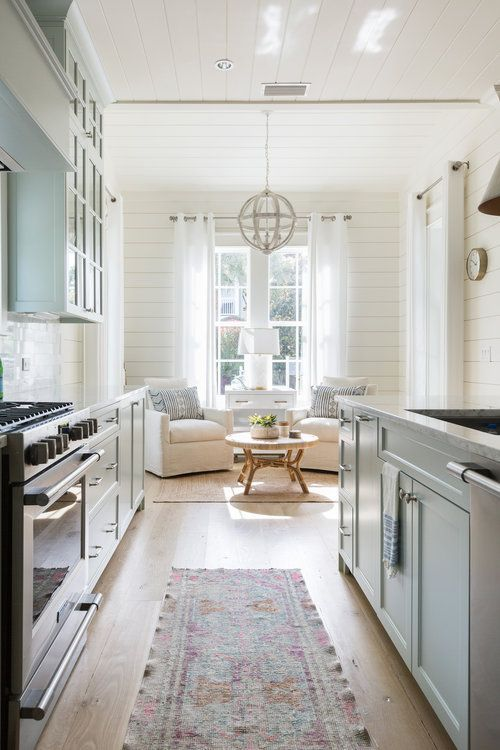 Non Traditional Kitchen And Dining Room Kitchen Nook Unique Lighting Chandelier Coastal Farmhouse Kitchen Interior Design Kitchen Kitchen Sitting Areas #non #traditional #living #room #ideas
