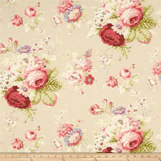 Waverly Sanctuary Rose Linen: