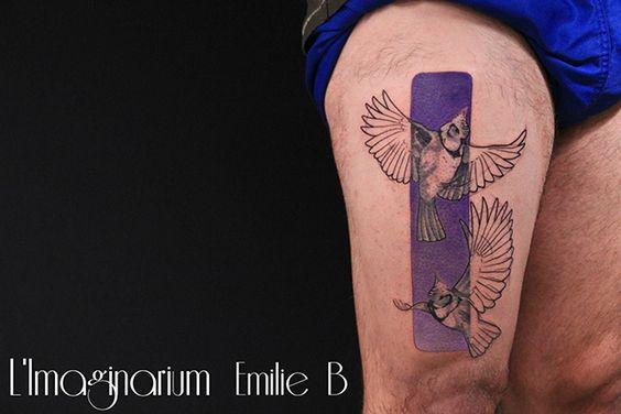 #tattoofriday - Emilie Barbera (França) mistura técnicas e estilos e dá vida à tatuagens interessantíssimas na pele;