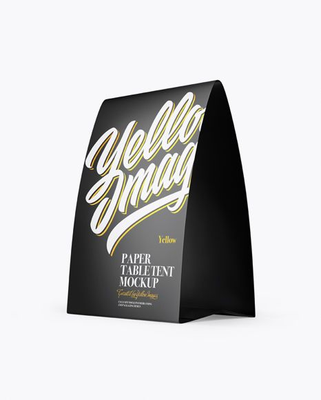 Matte Paper Table Tent Mockup Half Side View Present Your Design On This Mockup Simple To Ch Mockup Free Psd Free Psd Mockups Templates Psd Mockup Template