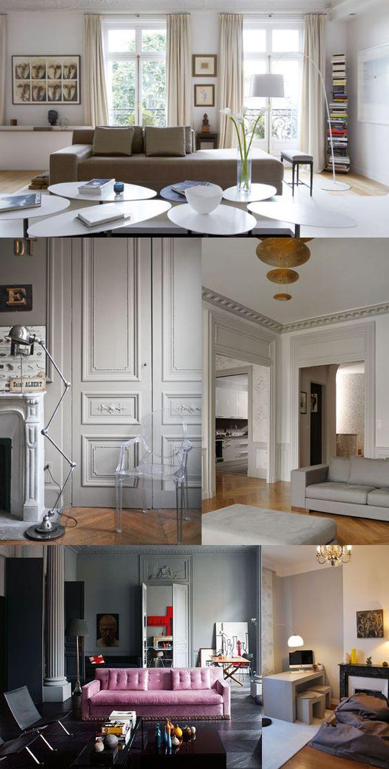 Réaménagement et décoration du0027un salon dans une ambiance - Decoration Encadrement Porte Interieur
