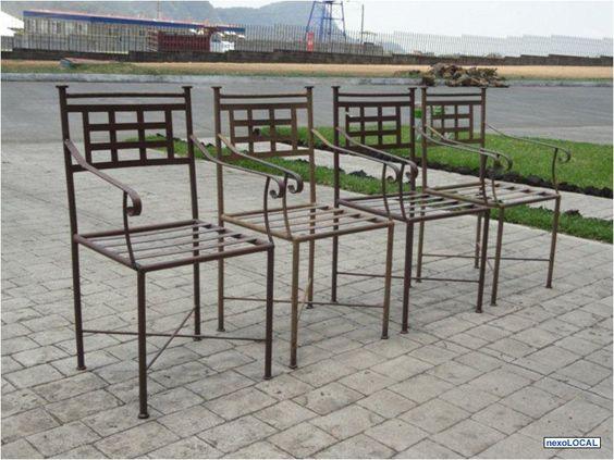 Fotos de se regala lindas sillas para jard n de hierro for Sillas de plastico para jardin